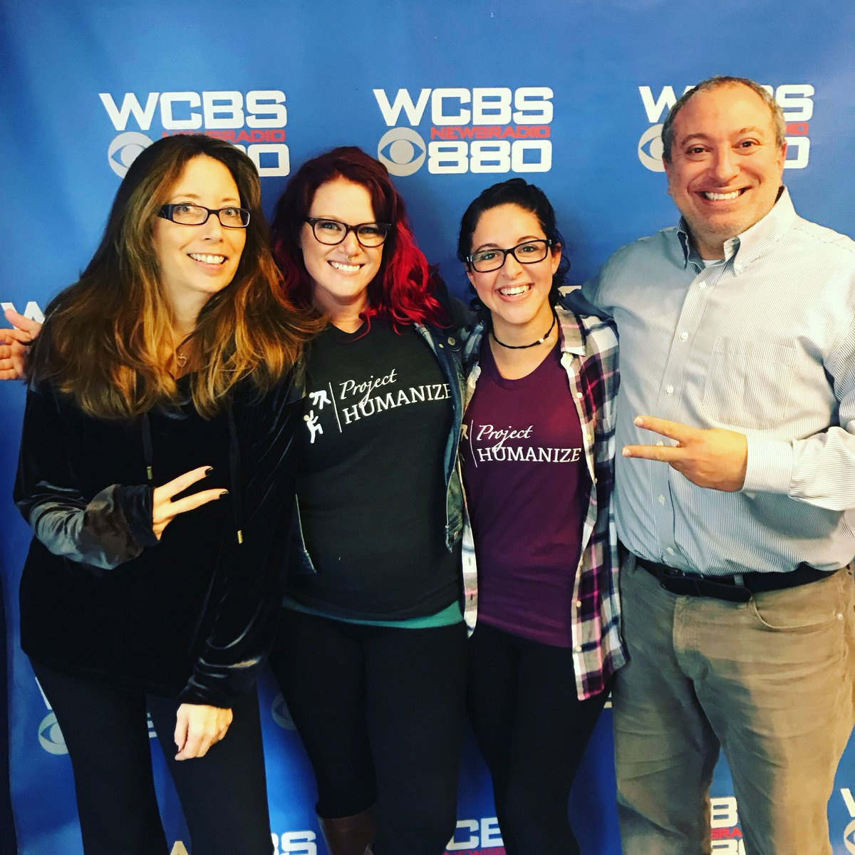 So THIS happened today. A huge thank you @deidrekopp &amp; @jaygassman for having us on air with. @gutwizdom. You guys rock! Tune in Saturday at 7 to WCBS 880AM to listen in!  #projecthumanize #gutwizdom #wcbs880 #cbsradio #homelessness #homeless #nyc #newyorkcity #radio #nonprofit <br>http://pic.twitter.com/Rh11fccpFK
