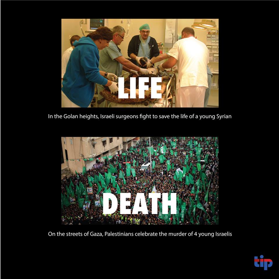 This is the fundamental difference between the #Israeli and #Palestinian societies - one values life, the other values death.<br>http://pic.twitter.com/dfQzD79sRQ