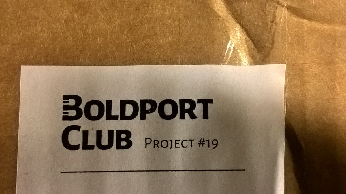 What a pleasant surprise to come home to. #BoldportClub @boldport