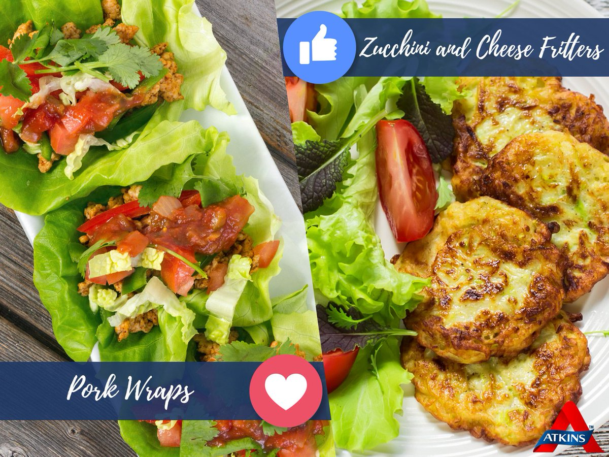 Your menu options for lunch are… Mexican pork lettuce wraps or zucchini and cheese fritters… what would you choose? https://t.co/um2PmrLfMH