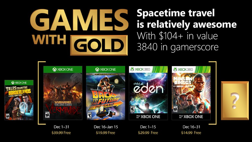 Xbox Live Games with Gold December 2017