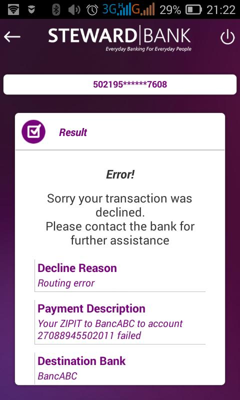 Steward Bank On Twitter How To Transfer Funds Using Zipit On The