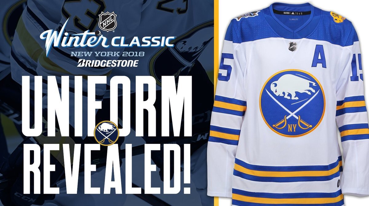 19a5dc77 To the good, honest, hard working Folks in Buffalo...your winter classic  jerseys are dynamite. They are Beautiful. You guys are gonna look Sharp ...