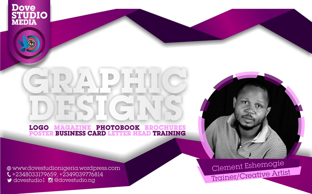 Call for your #GraphicsDesign #Logos #Magazine #Brochure #Infographics #Poster #Flyer #BusinessCard #Training  etc #PHcity #Lagos #Abuja #Nigeria @PGH1PGH1 @PHTafia @TouchPH @SellitinPHC @Gidi_Traffic @gdglagos @freelancer @PORTHARCOURT_ @phsabithetin<br>http://pic.twitter.com/8s2dfyNQXl