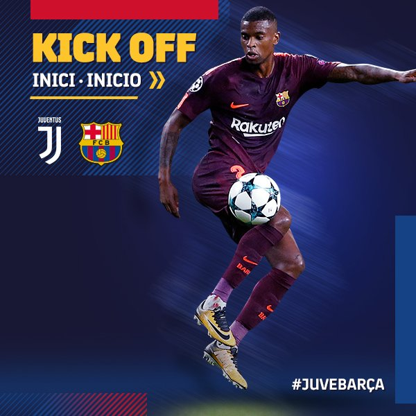 📌 The game is under way in the Juventus Stadium! #JuveBarça 🔵🔴 #ForçaBarça https://t.co/okF7STl0F0