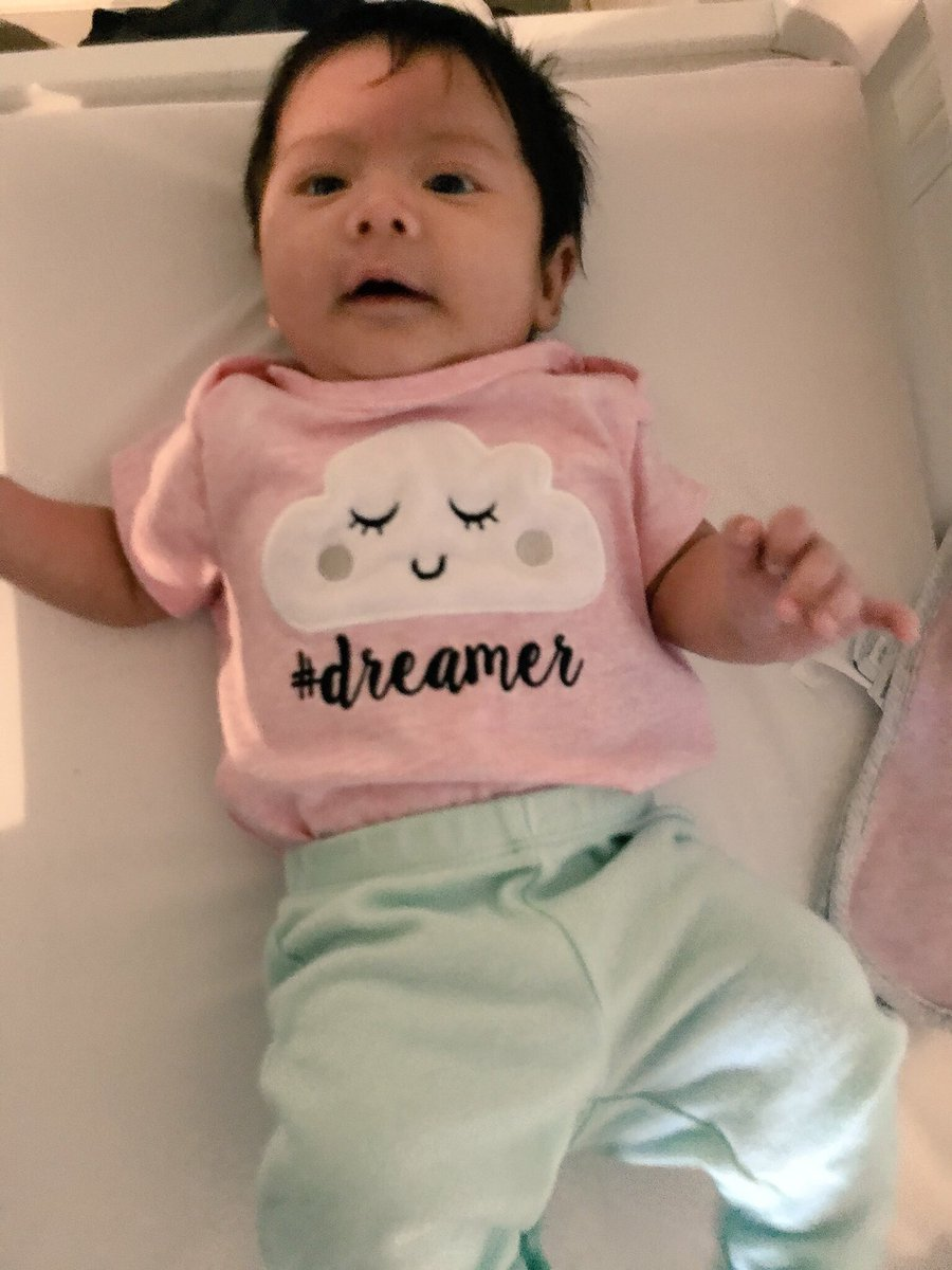 She's the daughter of a 1st generation Immigrant and a 4th generation Mexican-American.   She's our little #Dreamer and stands with Immigrant #Dreamers with #DACA.  #DreamActNow  Happy Thanksgiving Eve!<br>http://pic.twitter.com/2czLXr7VZN