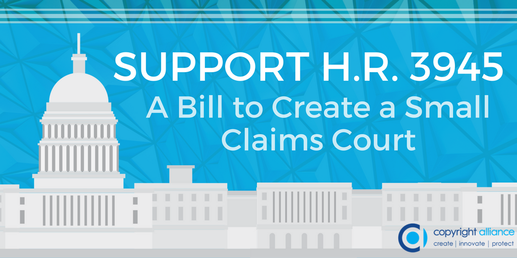 Fighting #copyright infringement can be daunting for creators. By adding a Small Claims Court, #HR3945 can change that! Learn more and urge your legislators to cosponsor this bill.  http:// copyrightalliance.org/get-involved/a dd-your-voice/ &nbsp; … <br>http://pic.twitter.com/dLq1NFNQy7