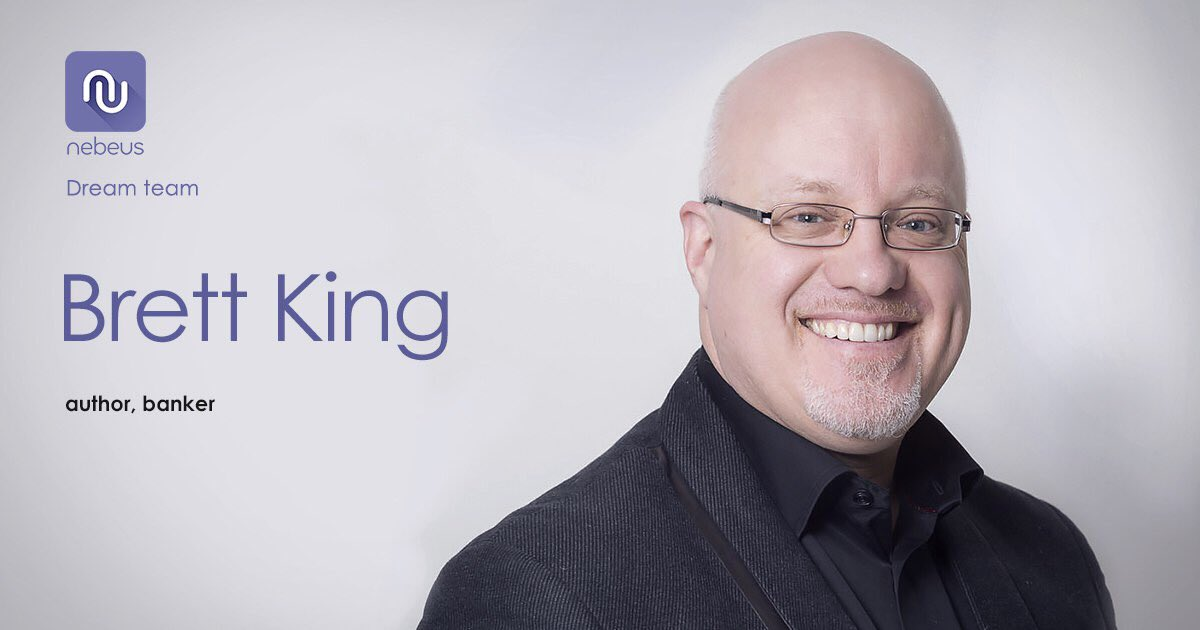 We are not a start up - we have a strong team of professionals.  Meet one of them - @BrettKing. International best-selling author, famous banker, lead advisor and shareholder of Nebeus. Learn more about our dream team now  http:// token.nebeus.com/we-are-live/  &nbsp;      #ICO #nebeus #cryptocurrencies<br>http://pic.twitter.com/EEqsYocpxw