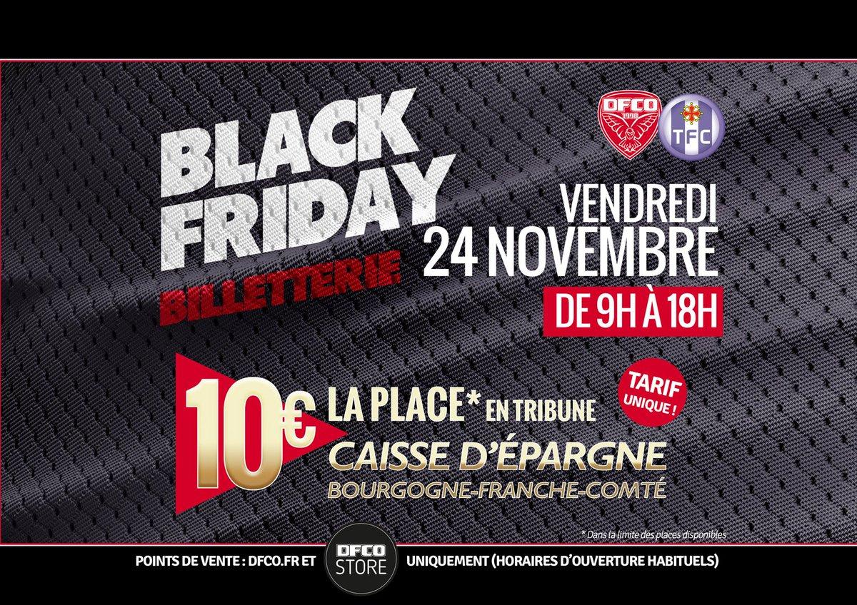 BLACK FRIDAY !!!    10 € la place pour #DFCO - @ToulouseFC !    + d&#39;infos   http:// bit.ly/2B2Xn7t  &nbsp;    #DFCOTFC #Ligue1Conforama #BlackFriday<br>http://pic.twitter.com/27e5ZfaeGu