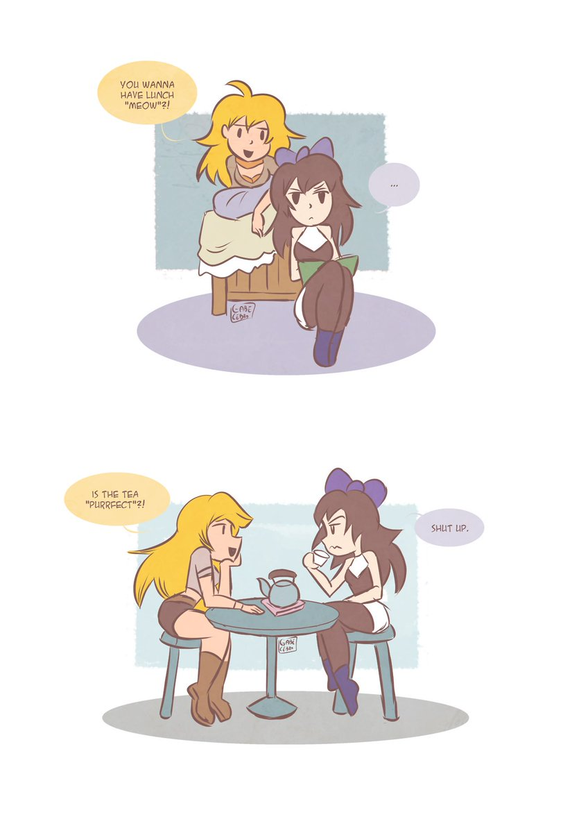 Yang's bad puns continues  #rwby #art<br>http://pic.twitter.com/pnbuJwuyFf