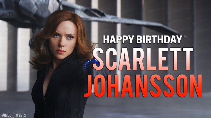 Join us in wishing the Black Widow of the MCU, Scarlett Johansson, a very happy 33rd birthday!
