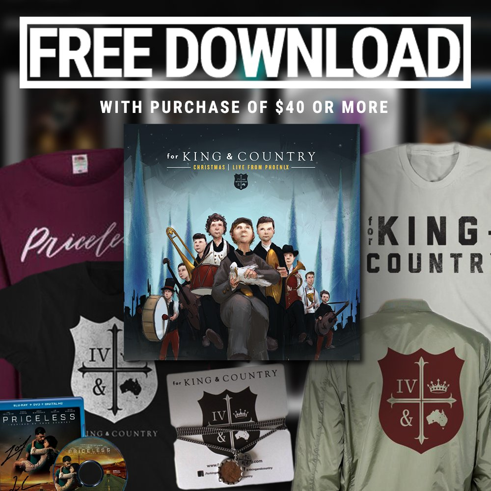 for king country on twitter black friday merchandise special today only purchase 40 or more of merch on our web store and receive our live christmas - For King And Country Christmas Album