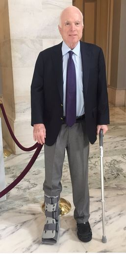 McCain explains why his boot was on a different foot