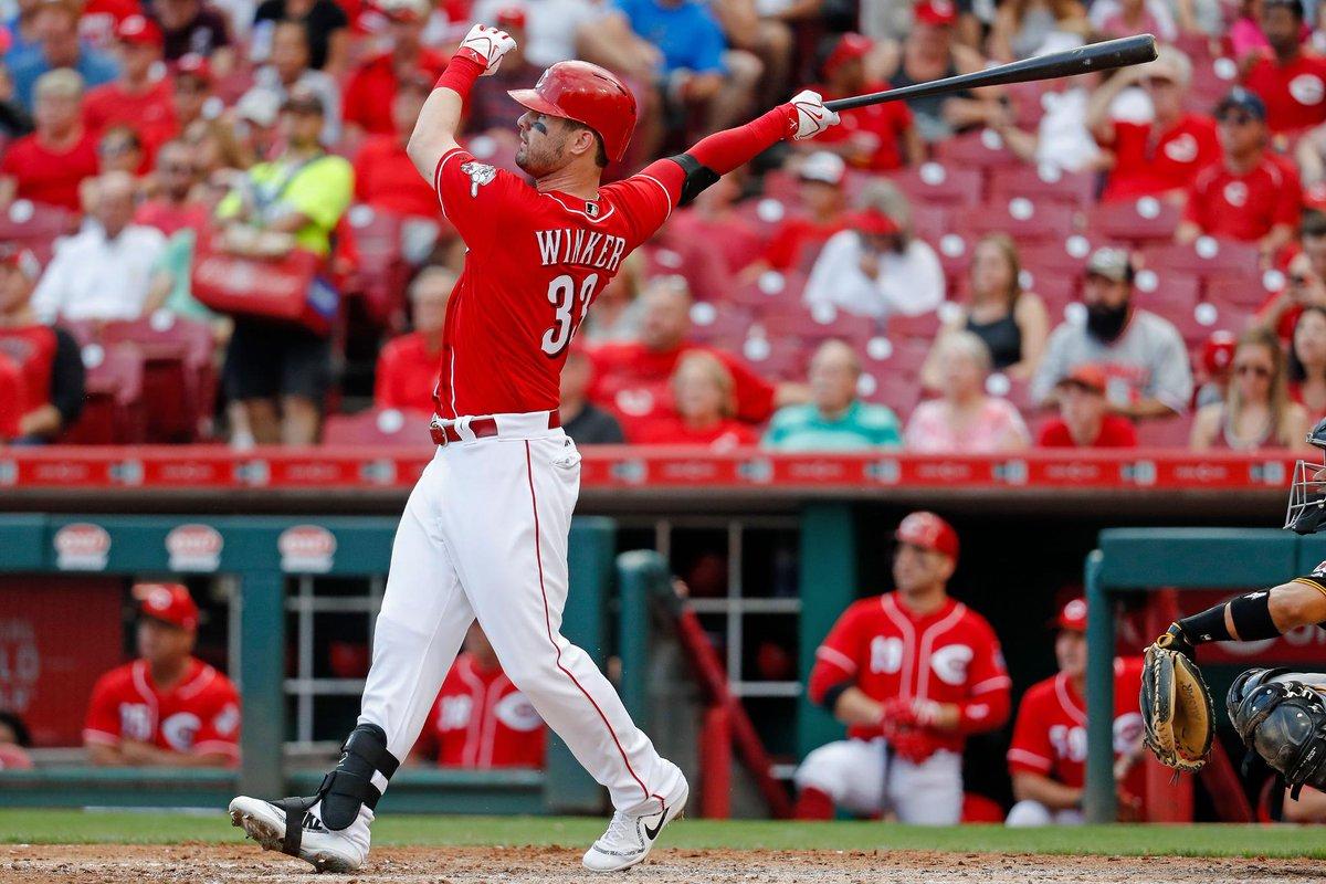 Should Jesse Winker bat leadoff? @m_shel...