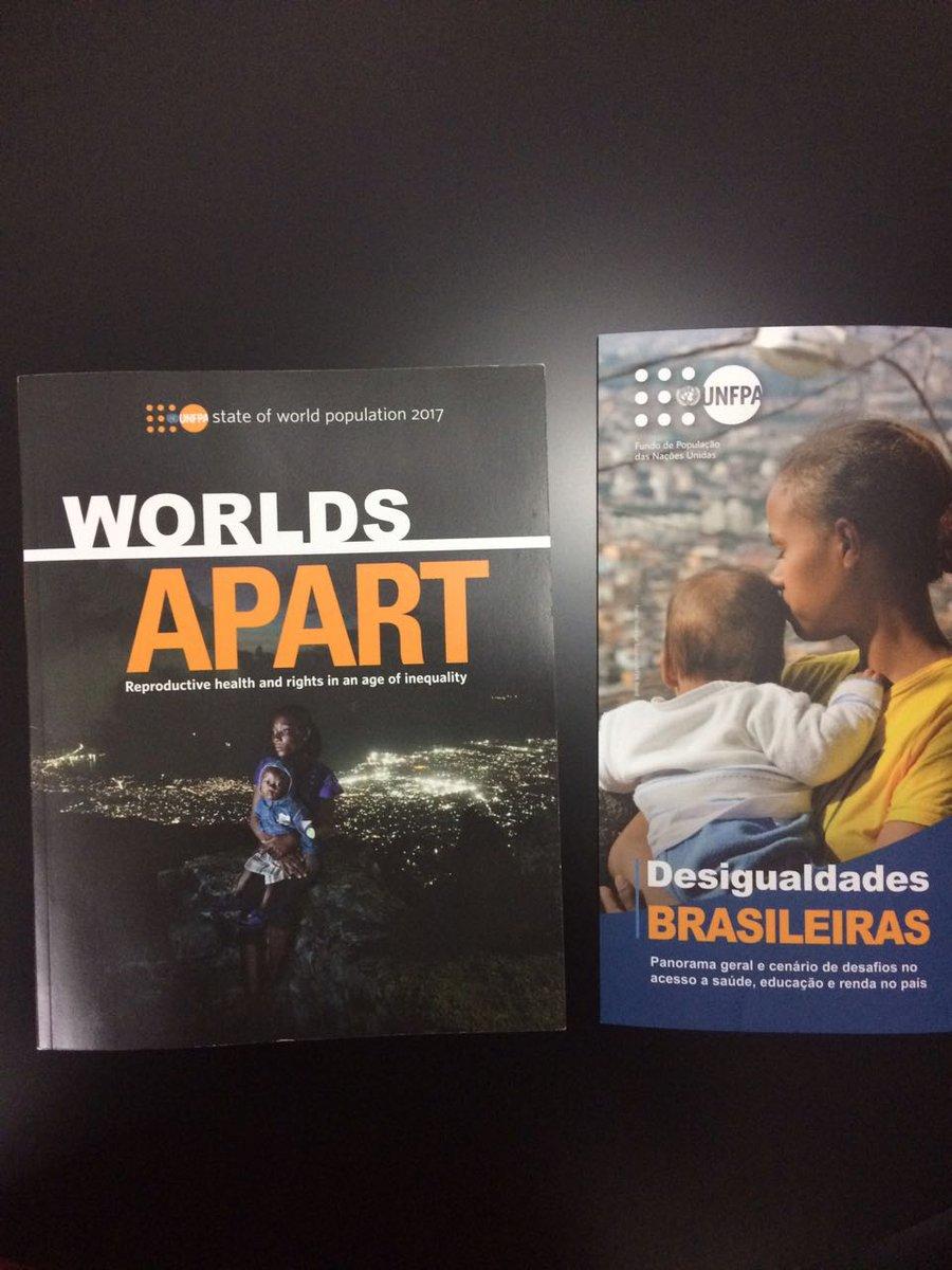 Esses dois relatórios são do @UNFPA Brasil, do qual sou um dos membros do conselho. Eles mostram o efeito da desigualdade na saúde das populações. Eles estão disponíveis neste link: https://t.co/qA7nMGPvY2