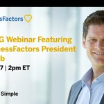 Join SAP SuccessFactors' President @GregTomb1 for a discussion with @ASUG365 on putting people at the heart of business. Register for the webinar: https://t.co/SNuuix0HEn