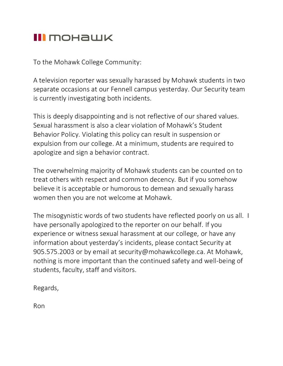 award application letter mohawk college How to write a nomination or reference letter college no matter how you are nominating john smith to receive an award for his volunteer.
