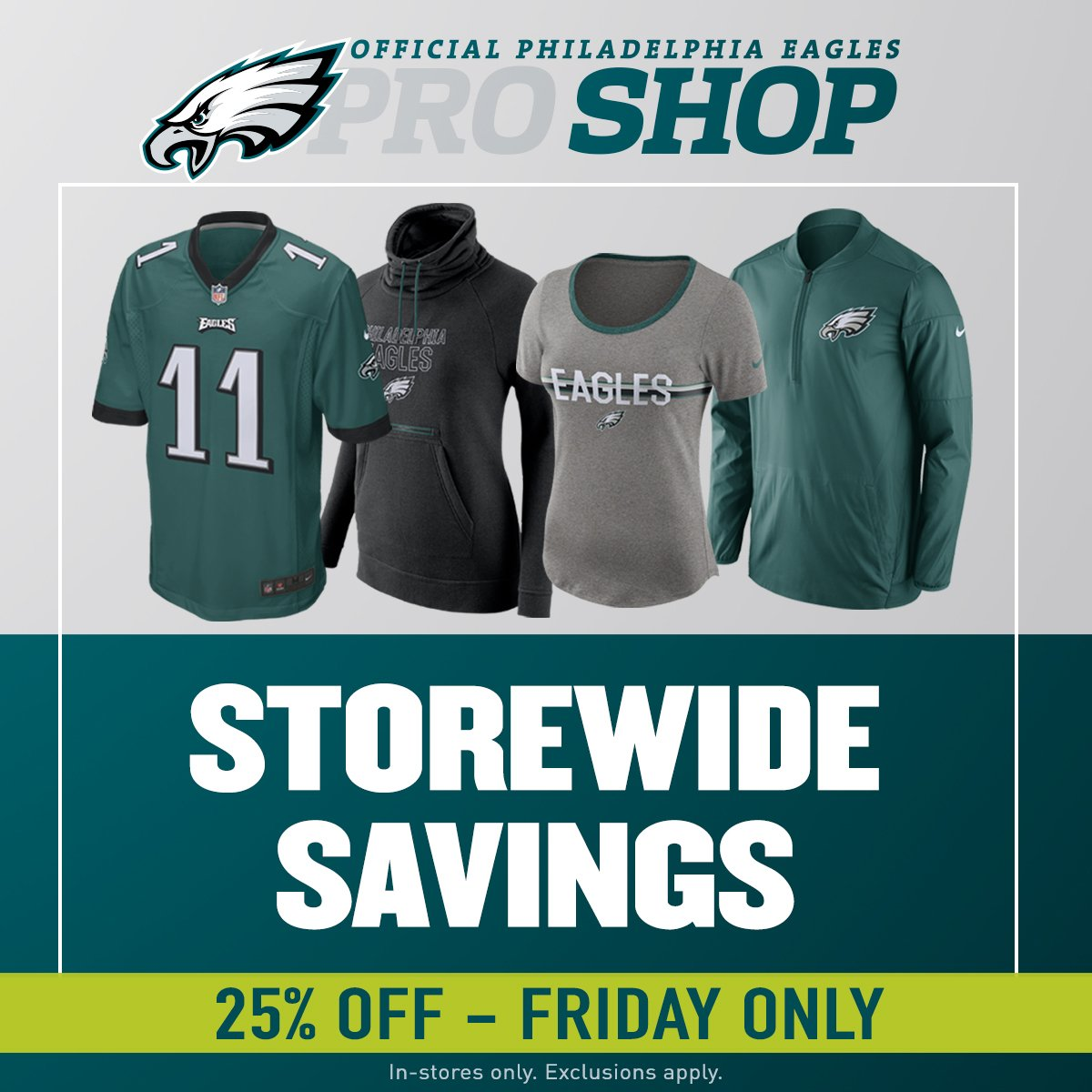 Eagles Pro Shop on Twitter: Ready for Black Friday? Get 25% off in  7W6HqJTo