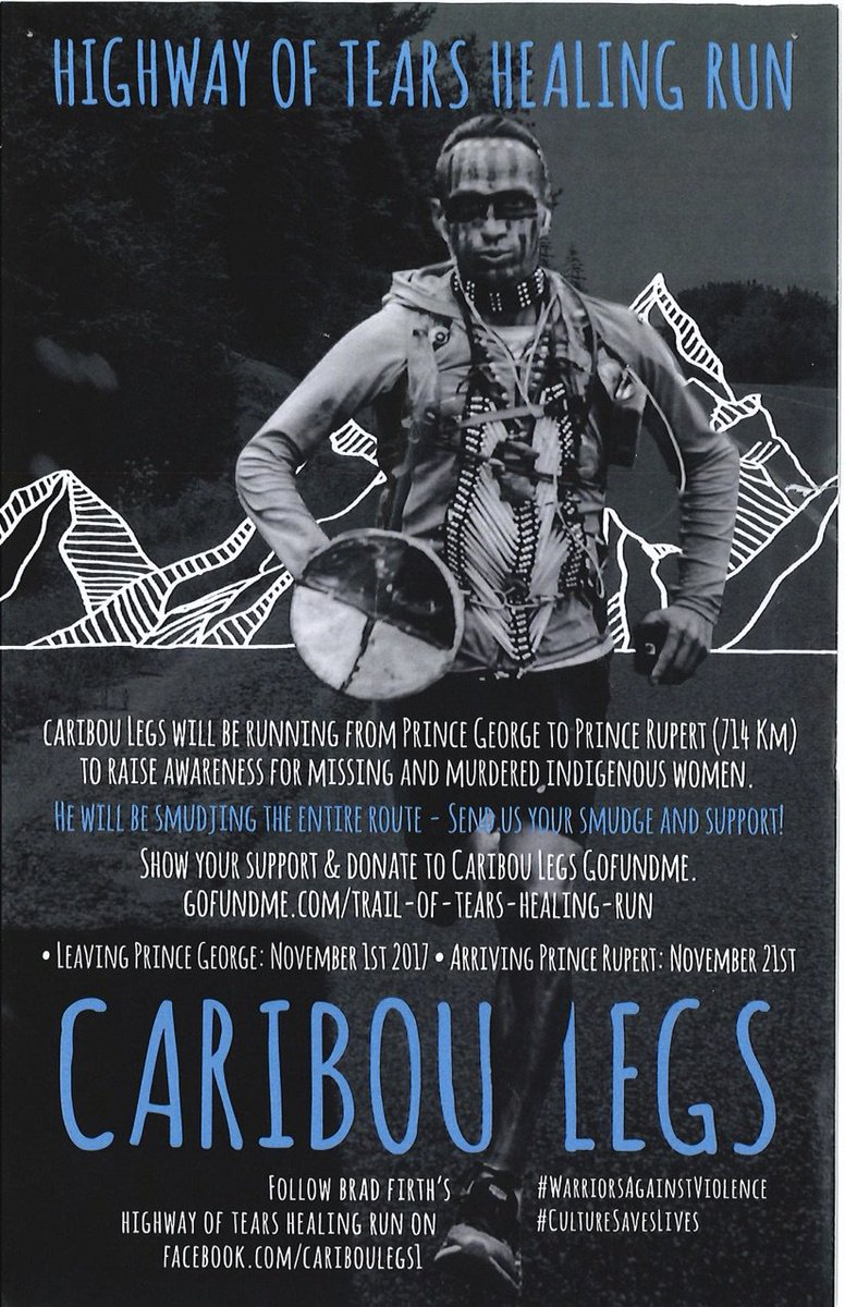 #PrinceRupert you&#39;re invited to bring a dish, share a meal and celebrate the amazing accomplishment of Caribou Legs at the Nisga&#39;a Hall today at 4 pm. #EveryoneWelcome #Community #CaribouLegs #MMIWG #Indigenous<br>http://pic.twitter.com/pUar3EOBHl