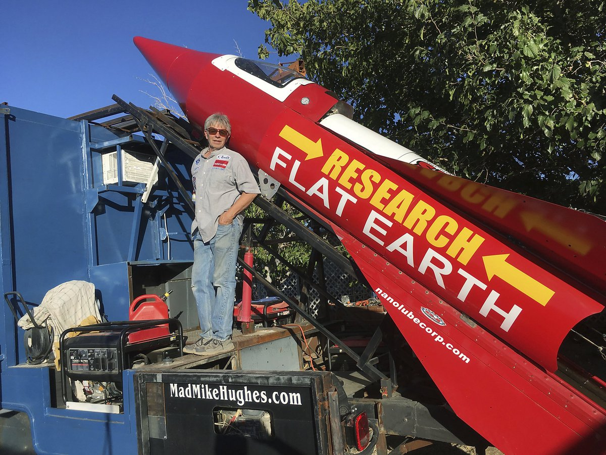 A California man is about to launch himself in his homemade rocket to prove the earth is flat https://t.co/ImcdvfLkg8