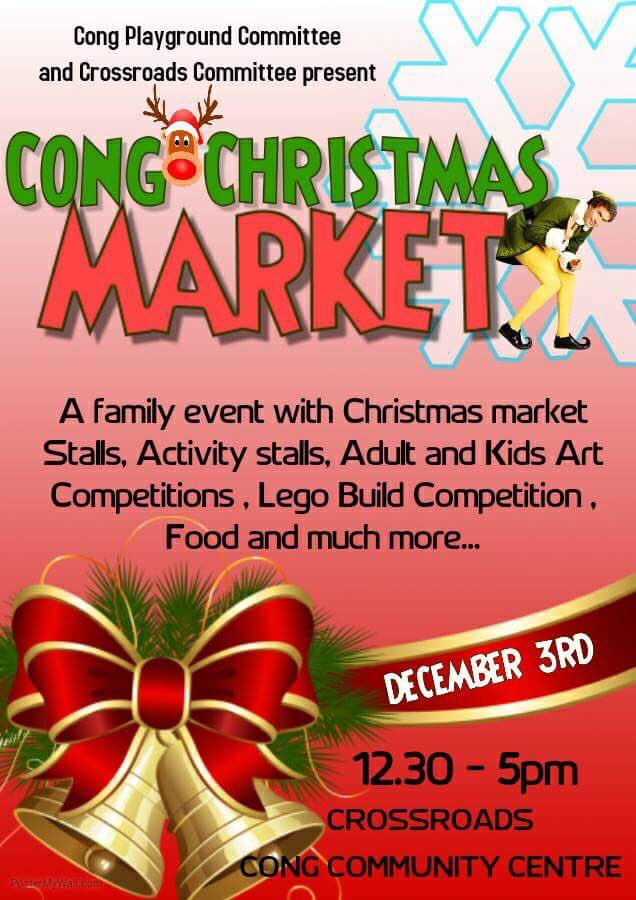 It's that time of year again! Cong Christmas Market is back! Make sure you get there early! Talented artisan producers, activity stalls and lots of family fun. Please RT #community <br>http://pic.twitter.com/pTYMW2EWhD