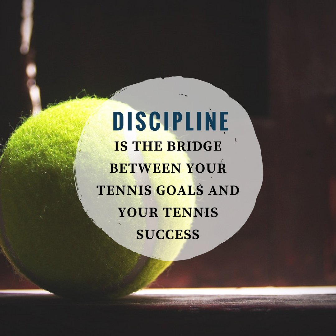 DISCIPLINE is the bridge between your tennis goals and your tennis success. #Tennis #TennisPlayer #TennisGame #Sports <br>http://pic.twitter.com/5Nc8hOI9Hv