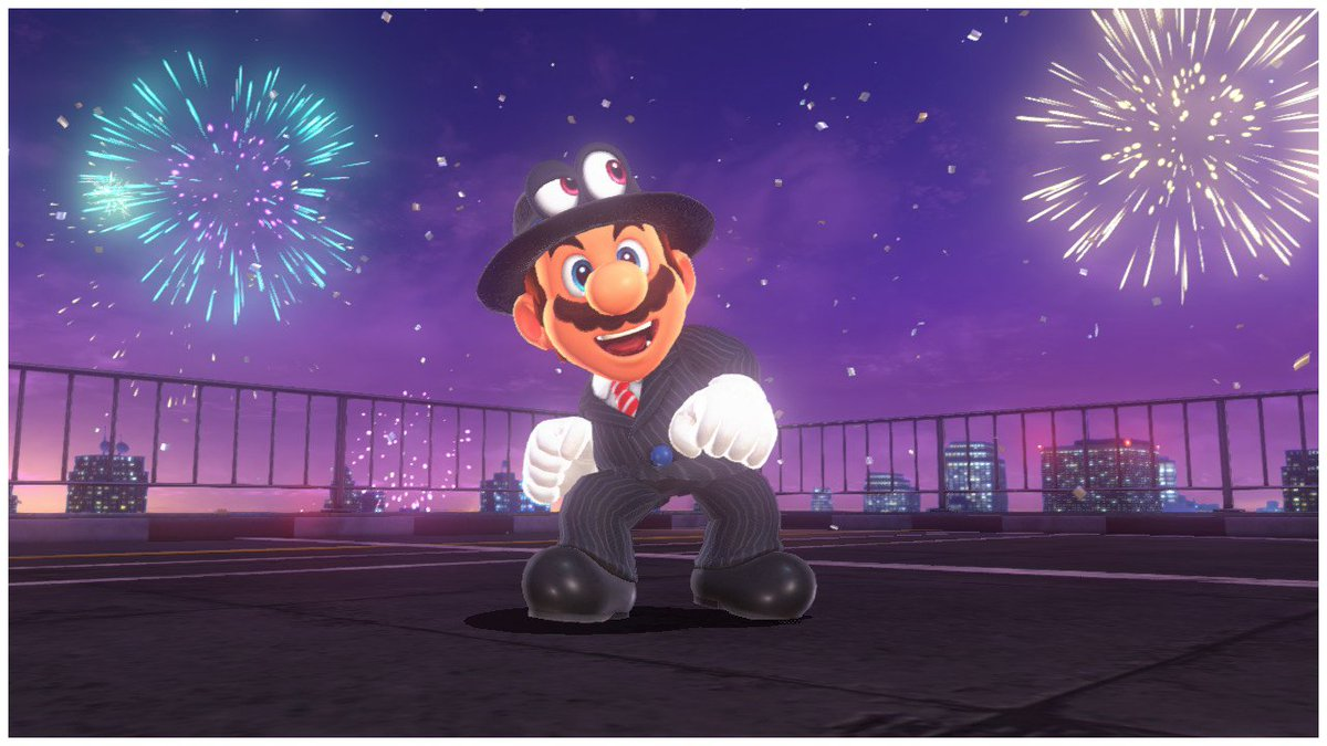 RT @g2_lo: Going into the holiday weekend like... #SuperMarioOdyssey #NintendoSwitch https://t.co/OTW4dYhf4T