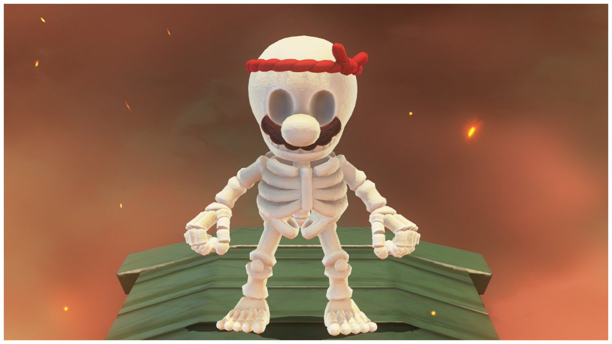 RT @SkeleToastMan: FINALLY! A costume to match me. #SuperMarioOdyssey #NintendoSwitch https://t.co/h7DsTqz7cV