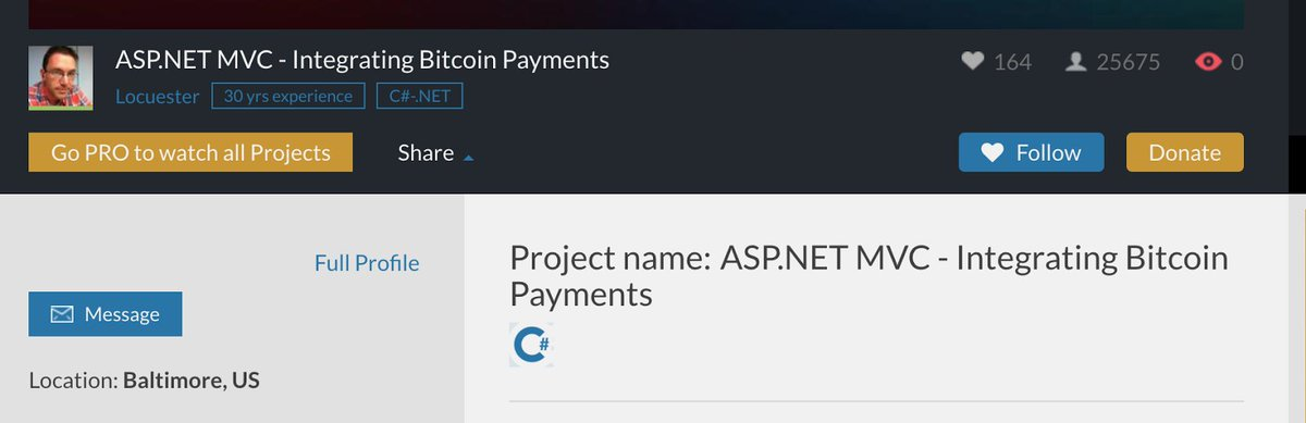 LiveEdu streamer Locuester has over 30 years of experience. Checking out his project  http:// ASP.NET  &nbsp;   MVC - Integrating Bitcoin Payments  http:// bit.ly/2iGO2vw  &nbsp;   #bitcoin #ethereum #ICO #cryptocurrency #education #smartcontracts #finance #stocks #altcoin #tokensale<br>http://pic.twitter.com/8au2HO2kUc