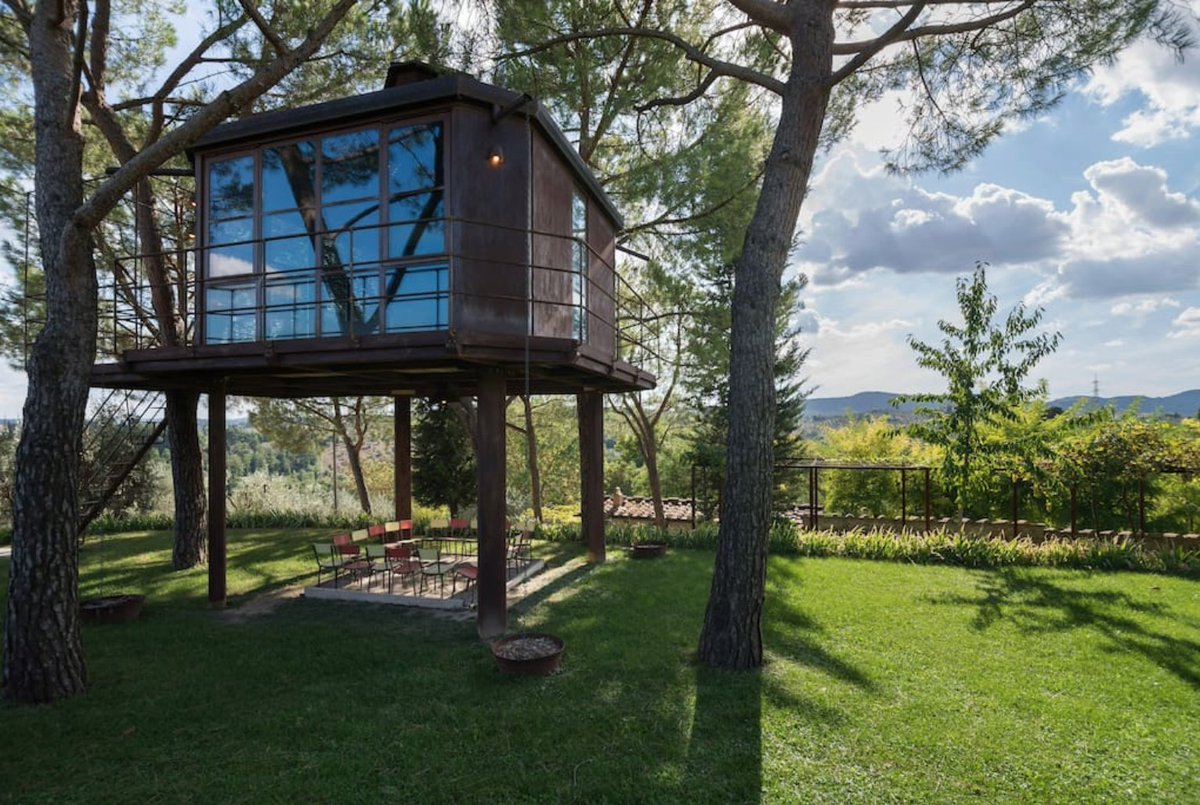 #TinyHouse Daydreaming About A Tuscan Escape To This Lovely #treehouse In  Florence, Italy.