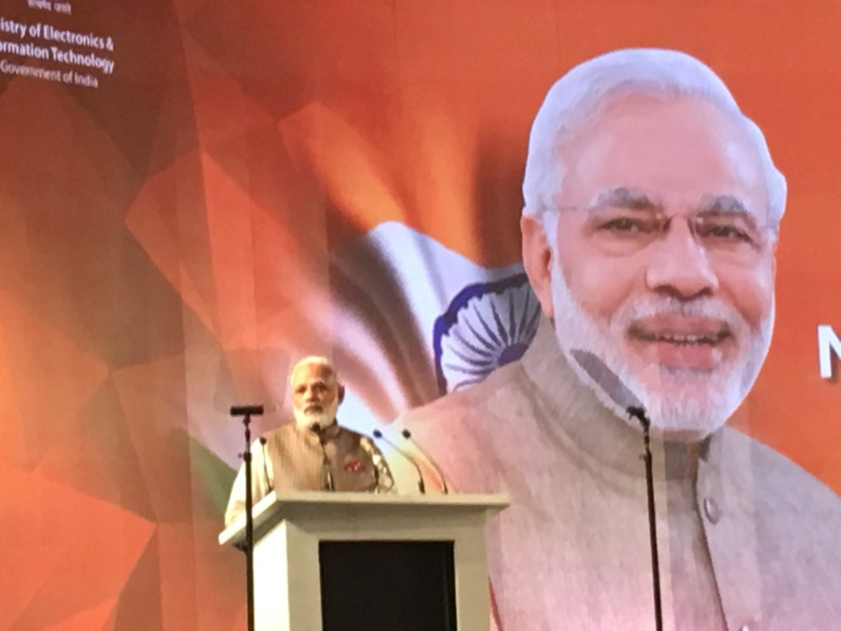 """The #CyberSpace for #Inclusion #Growth #Security and for #Diplomacy PM @narendramodi addressing @gccsofficial #GCCS2017 conference: Growth will happen when we grow together""""... #DigitalIndia<br>http://pic.twitter.com/gABq6VHJfn"""