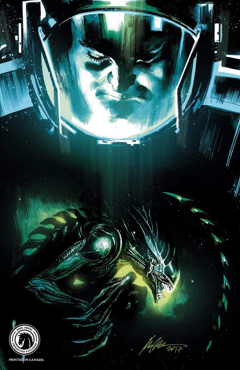 This gorgeous piece is a convention exclusive variant cover art by Rafael Albuquerque for Dark Horse&#39;s Aliens: Dead Orbit. #Alien #Aliens #Xenomorph  #AliensDeadOrbit<br>http://pic.twitter.com/7SnSMjmQKK