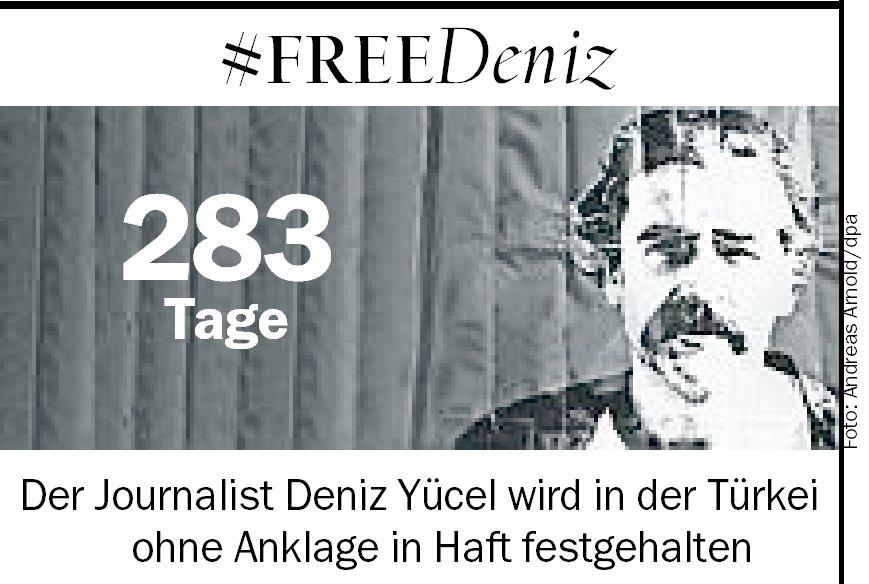 'Obwohl ich in Einzelhaft sitze, weiß ich, dank der vielen Menschen, die sich für mich und für meine inhaftierten Kollegen einsetzen, dass ich nicht alleine bin. Das hilft mir sehr', schrieb Deniz #Yücel der @tazamwe.  Also nicht vergessen: #FreeDeniz