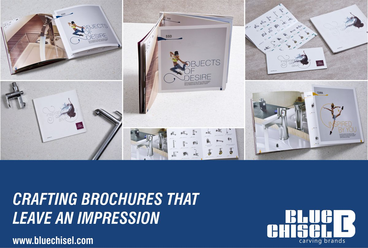 We enjoy crafting #brochures- the #Design, the #Content, the #Cover, everything! Every page is stuffed with sophisticated design, #creatively presented to strike an impression.  And we make sure the right message is put across.   http://www. bluechisel.com/portfolio/test -portfolio-2/ &nbsp; … <br>http://pic.twitter.com/HXAnW1yTGq