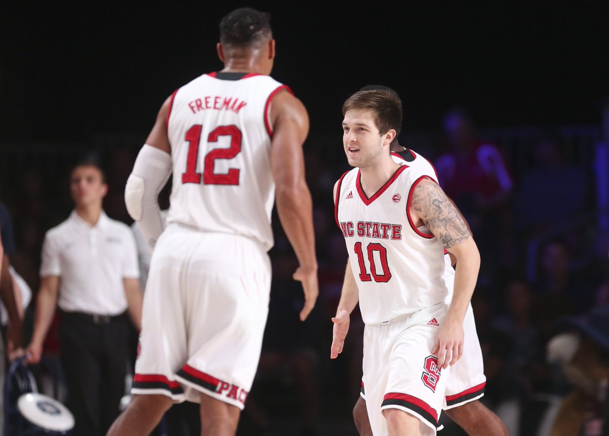 Upset complete!   NC State takes down No. 2 Arizona with 90-84 victory at Battle 4 Atlantis tourney