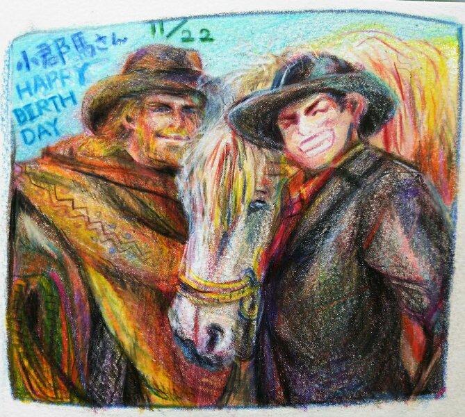 @asayuya1122  小郡馬さんお誕生日おめでとうございます!!一日遅れましたが大スキです!どうぞお受け取り下さい☀
