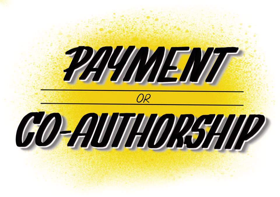 &quot;Payment or co-authorship: accept nothing less!&quot; Credit to @jodie__martin #academia #phdadvice<br>http://pic.twitter.com/jyHuomYwuC