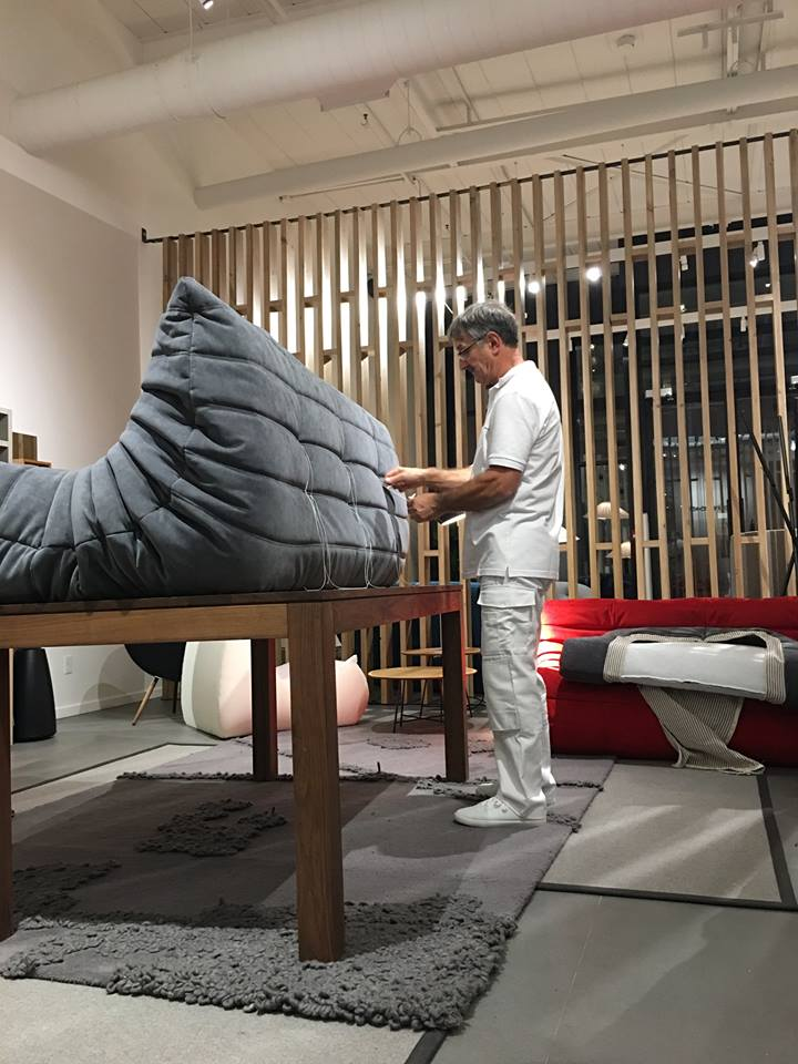 With 39 Years Of Experience Working For Ligne Roset Mr Berthaud Is One Just A Few S Skilled In Shaping The Iconic Togo Pic Twitter