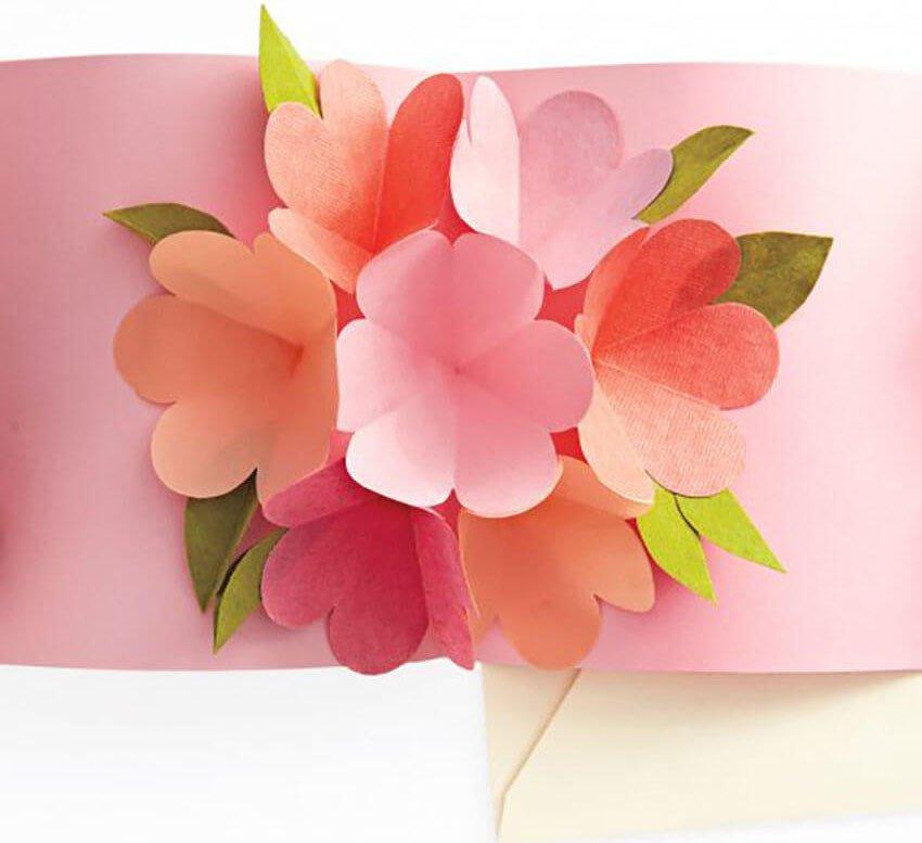 Анекдотом, как сделать цветок в открытку