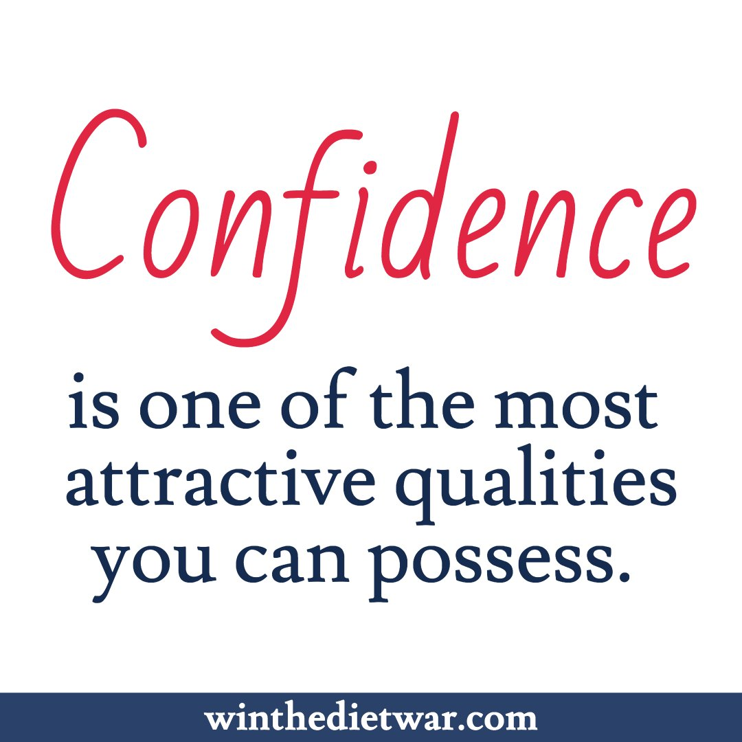 Confidence is one of the most attractive qualities you can possess.  #selfconfidence #confidence http://winthedietwar<br>http://pic.twitter.com/wSKsunxqep