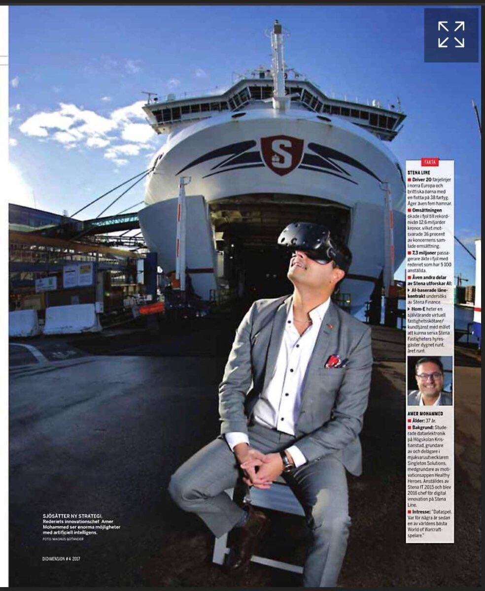 Formerly one of the worlds best #WoW players  he now heads #Digital #Innovation in @StenaLine and is a strong believer in the power of #AI and #VR to lift the business. Who said #maritime was conservative? #ChangeIsComing #Disruption  https://www. linkedin.com/feed/update/ur n:li:activity:6338999342619250688 &nbsp; … <br>http://pic.twitter.com/2Lkgz2AWyI