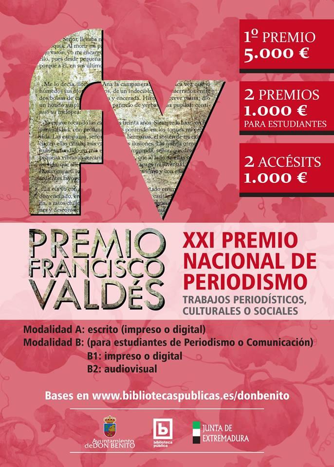 Resultado de imagen de XXI premio nacional de periodismo francisco valdés