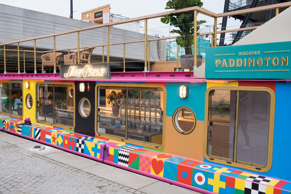 Head to Paddington Station to see two colour-popping restaurant barges designed by pop-art icon Sir Peter Blake. https://t.co/72eyRlaE7u