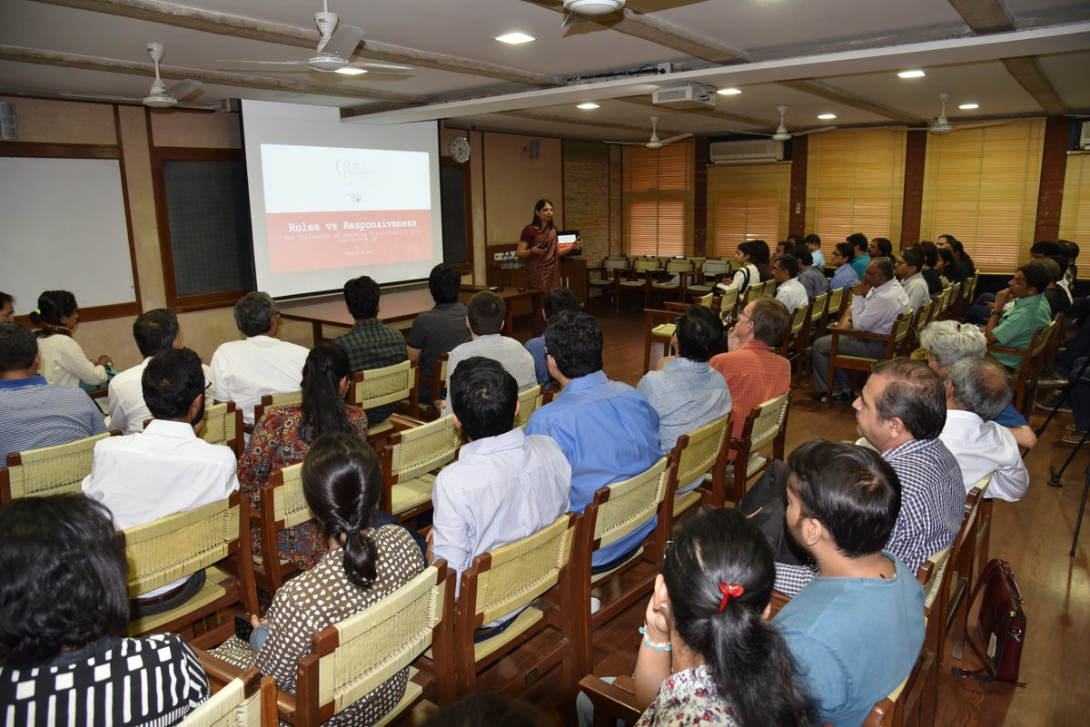#IIMA hosts first session for JSW School of Public Policy conducted by Dr. Yamini Aiyar, President and Chief Executive, Centre for Policy #Research, New Delhi on Rules Vs. Responsiveness: Reflections on the challenges on state capacity from the bottom up. @TheJSWGroup<br>http://pic.twitter.com/cH4HwaBv9l