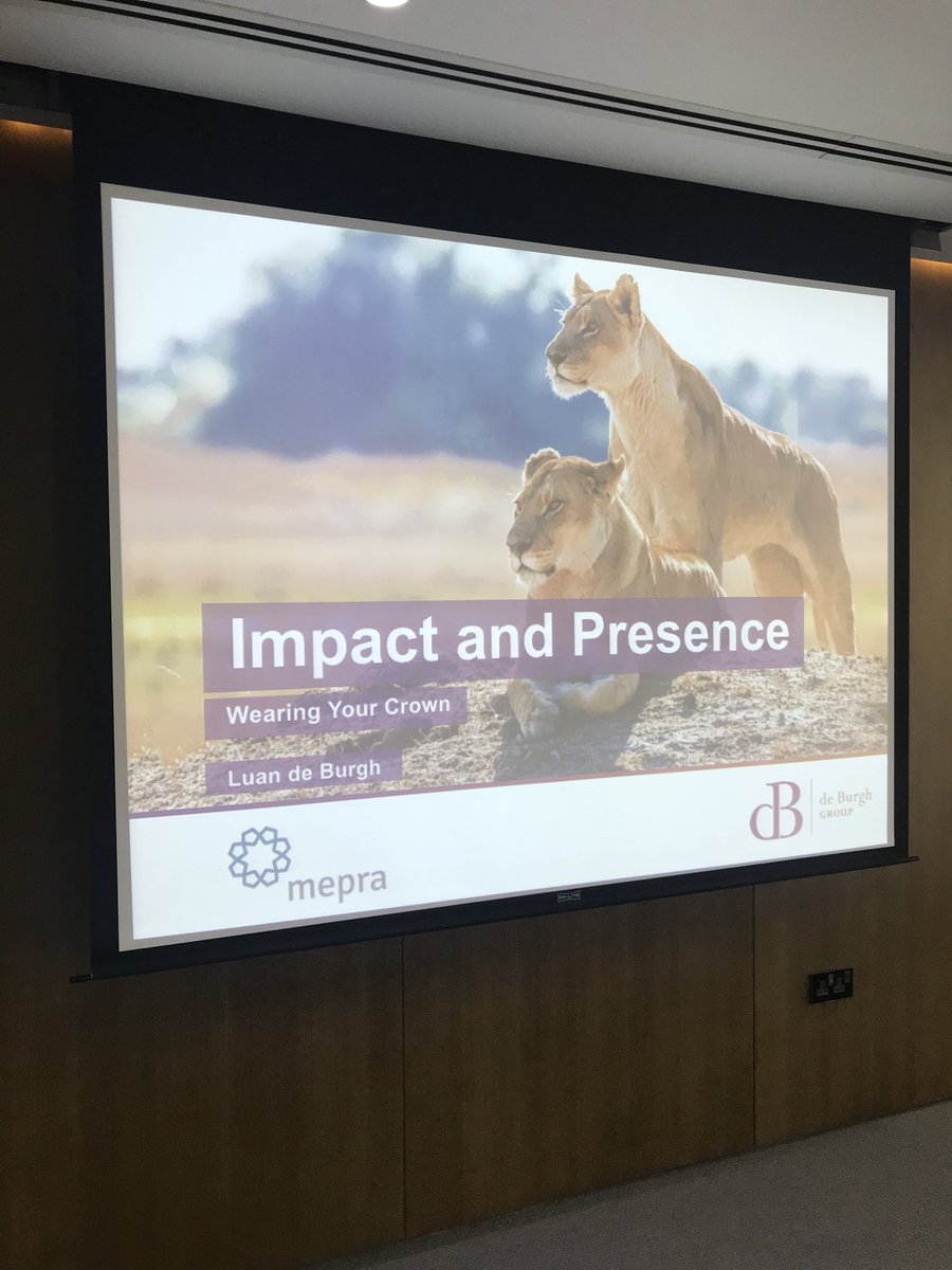 Great audience @MEPRA_org in  #Dubai this morning for #impact and #presence <br>http://pic.twitter.com/RpWc4f84Q7