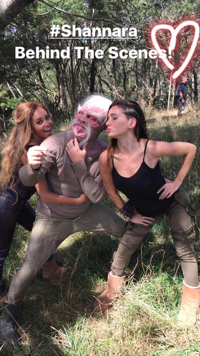 #NEW @VanessaMorgan and @ivanabaquero_ behind the scenes of #TheShannaraChronicles #Eretria #Lyria #Lyretria<br>http://pic.twitter.com/kyKNFWI50k