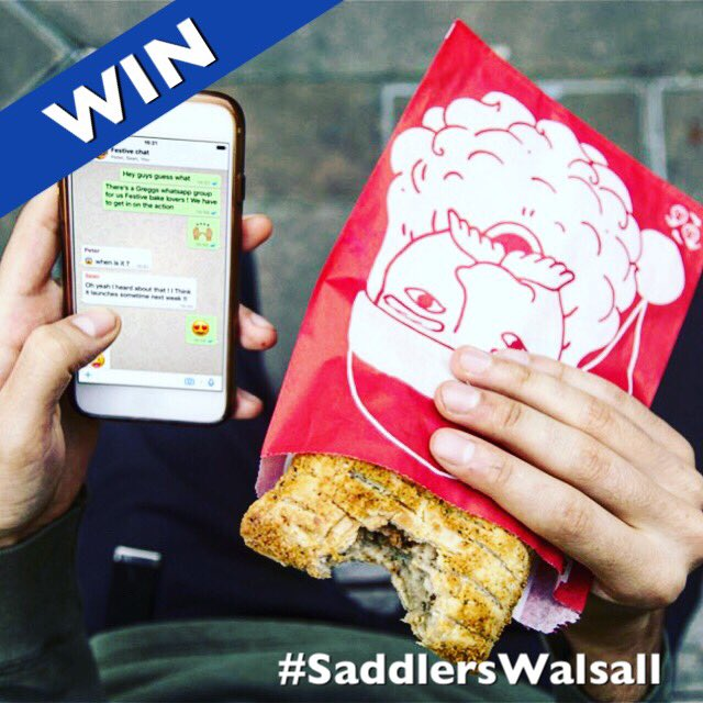 #WIN | Feeling Christmassy? #WIN a Festive Bake a Mince Pie and a drink of your choice from Greggs at #SaddlersWalsall.  To enter, simply #Retweet and #Follow Good Luck!! <br>http://pic.twitter.com/cH2eDL8rau