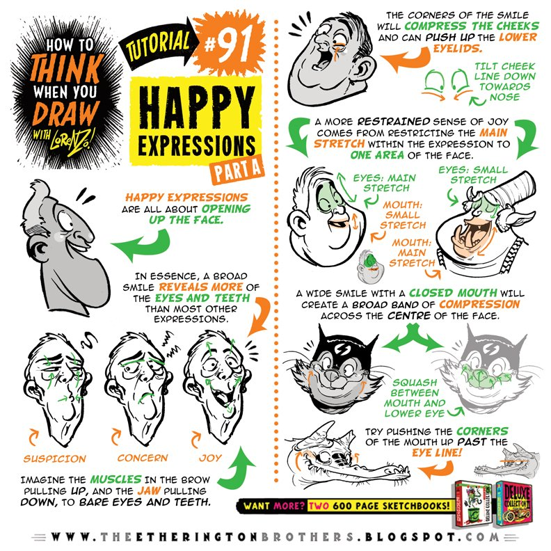 How to THINK when you draw HAPPY EXPRESSIONS tutorial PART ONE is HERE:  http:// theetheringtonbrothers.blogspot.co.uk/2017/11/how-to -think-when-you-draw-happy.html &nbsp; …  #howtoTHINKwhenyouDRAW #howtodraw #drawingtutorial #conceptart #gamedev #animationdev #gameart #tutorial #inktober #sketch #illustration #art #drawing #indiegame #characterdesign #draw<br>http://pic.twitter.com/Rjml2d53SN
