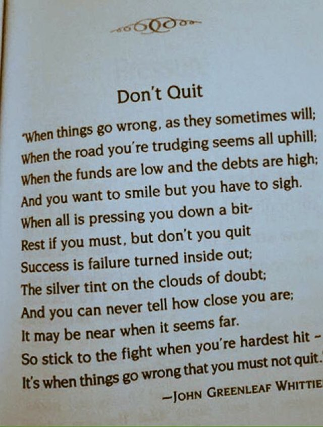It&#39;s when things go wrong  that you must not quit. Hang in there  #ThursdayThoughts #Motivation #Inspiration #Believe<br>http://pic.twitter.com/WxRlVQrj2C