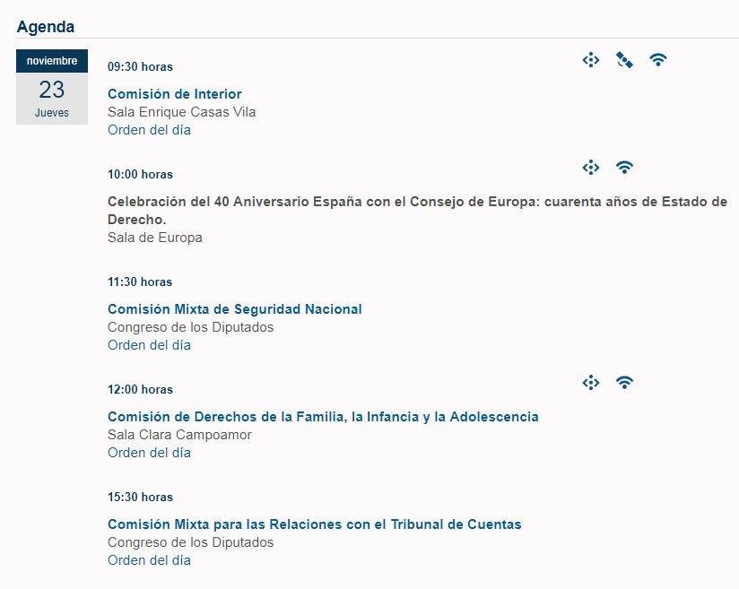 #Buenosdías, #agenda del @Senadoesp para...